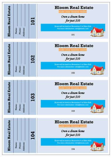 real estate just got more stylish with digs by zillow 15 free raffle ticket templates in microsoft word mail merge