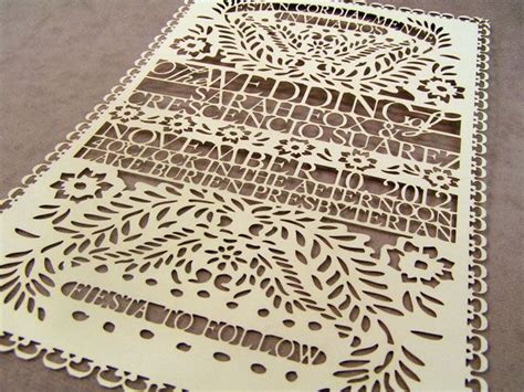 paper cutting wedding invitations laser cut paper papel picado invite laser cutting shapes