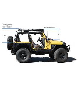 Jeep Wrangler Rack Jeep Tj 183 Stealth Rack 183 Built For 40 Led Setup Gobi Racks