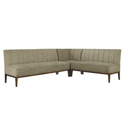 hickory chair banquette bistro banquette from the mariette himes gomez collection by hickory chair furniture co