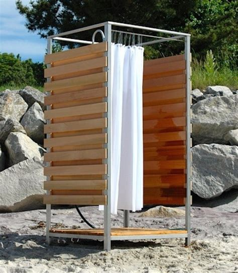 outdoor shower curtains hardscaping 101 outdoor showers gardenista