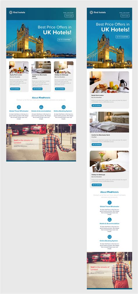 Responsive Template Newsletter Travel Hotel Newsletter Pinterest Email Design Condo Website Templates