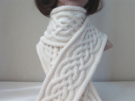 celtic cable knit scarf pattern knitting pattern scarf celtic scarf by crochetshopcarolina
