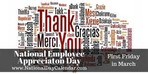 national employee appreciation day today