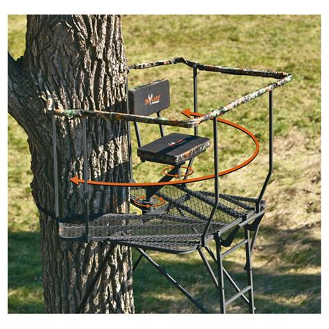 big game 174 ultra view dx 16 ladder tree stand 292405