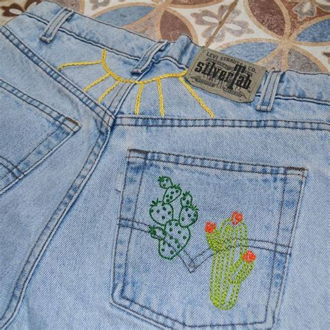 Embroidery Denim Shorts best 25 embroidered shorts ideas on