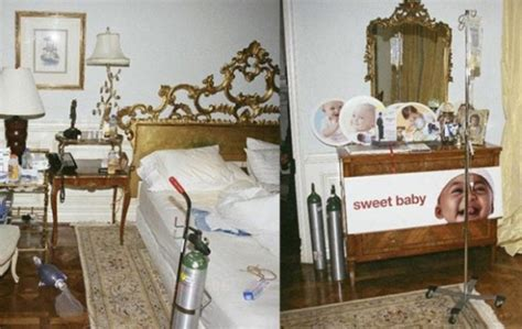 michael jackson death bed the network got a photo of the room in which he died