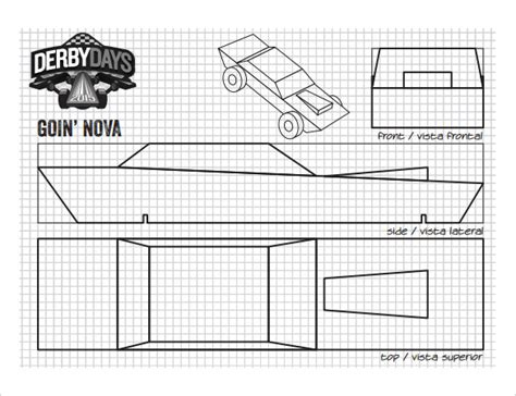 21 Cool Pinewood Derby Templates Free Sle Exle Format Download Free Premium Templates Pinewood Derby Car Templates