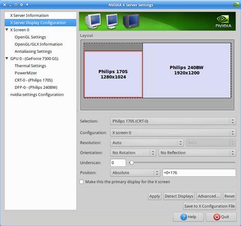 screen layout editor ubuntu nvidia xubuntu 14 04 ignoring screen layout changes