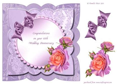 60th Wedding Anniversary Card Verses by Wedding Anniversary Card Front With Decoupage