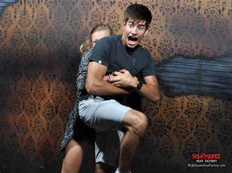 haunted house reactions funny reactions to nightmares fear factory business insider