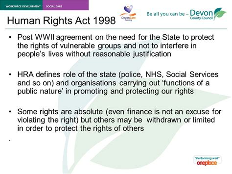 the human rights act enabling people to live a life free from abuse and