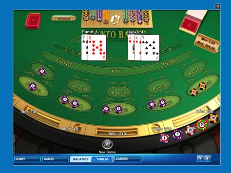 punto banco gioca al punto banco playmillion giochi baccarat