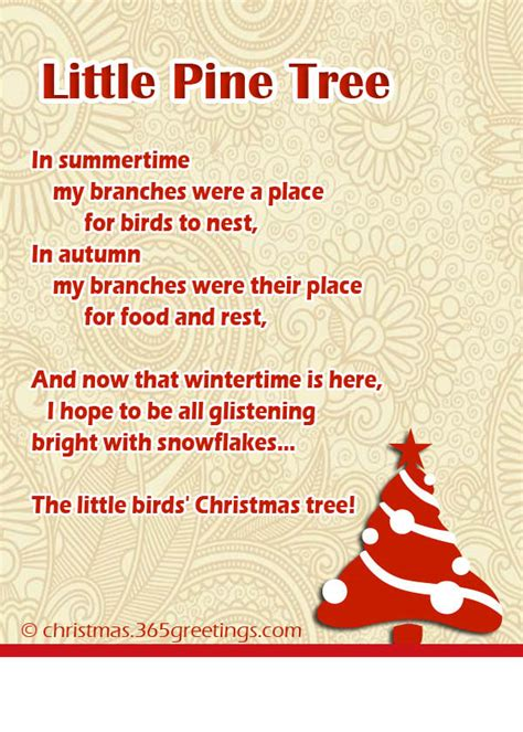 the little christmas tree poem poems celebration all about