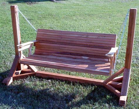 cedar creek woodshop porch swing patio swing picnic