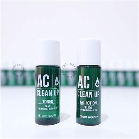 Jual Etude House Ac Clean Up Toner 5ml Pom ac clean up toner gel lotion makeup house