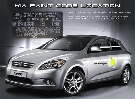 kia forte 2010 paint codes carid