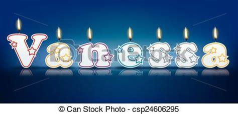 imagenes de happy birthday vanessa eps vectores de vanessa velas escrito vanessa escrito