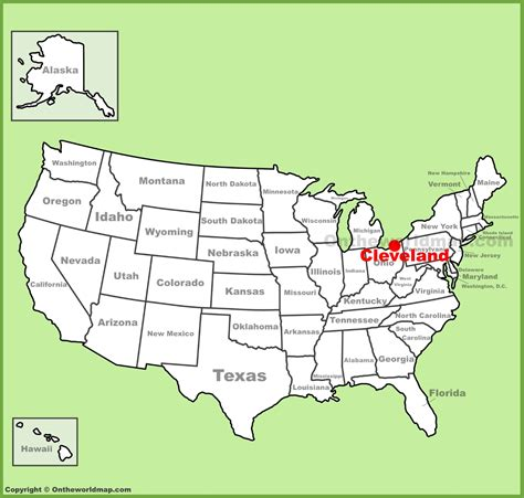 cleveland usa map cleveland location on the u s map
