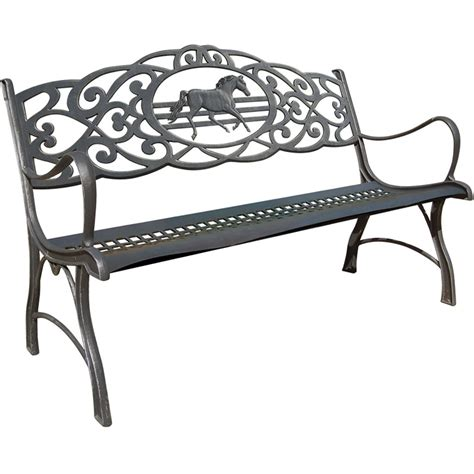 black wrought iron bench cast iron patio bench outdoorlivingdecor