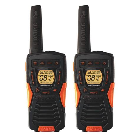 rugged two way radios cobra 37 mile range rugged and floating 2 way radio with rewind cba acxt1035rfl the home depot