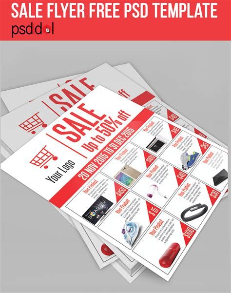 Sale Flyer Free Psd Template Download On Behance Sales Catalog Template