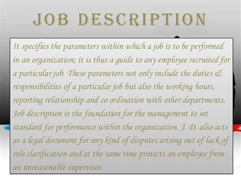 Front Desk Manager Responsibilities by Description Specification