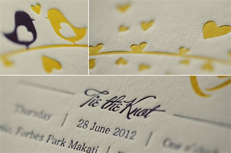 Wedding Invitation Design Price Philippines by Letterpress Wedding Invitations Elegance And