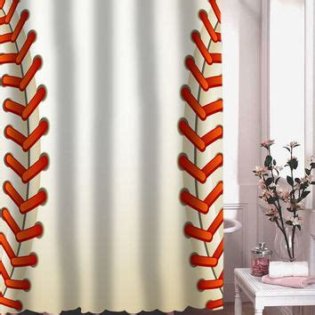 Baseball Shower Curtains Shop Baseball Shower Curtain On Wanelo