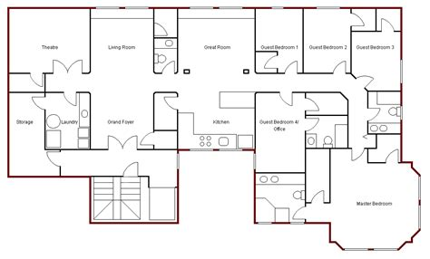 bedroom bath house plan plans floor home bed story turn quot into movie