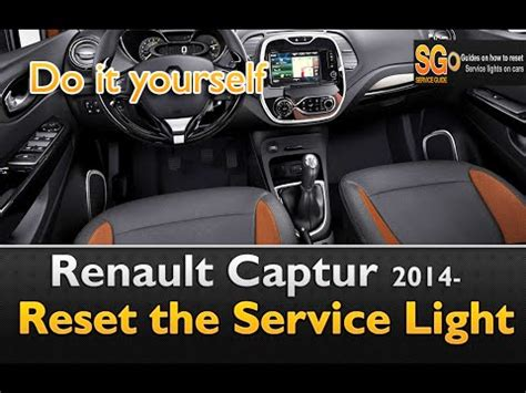 reset l200 service light renault captur service light reset guide youtube