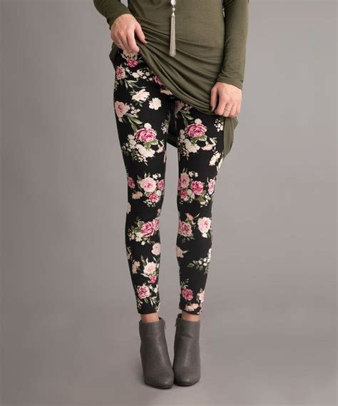 pink patterned leggings look at this black pink floral leggings on zulily today