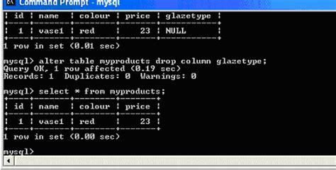 Mysql Alter Table Drop Column by Mysql Tutorial