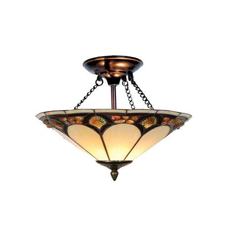 tiffany flush mount ceiling light dale tiffany crystal pebblestone flush mount 2 light