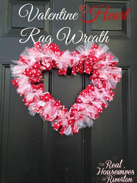 diy valentines wreath diy rag wreath of riverton