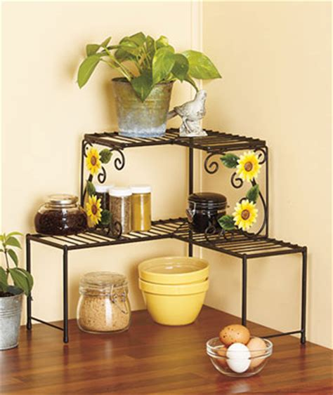sunflower kitchen ideas sunflower kitchen over the sink shelf w basket and towe