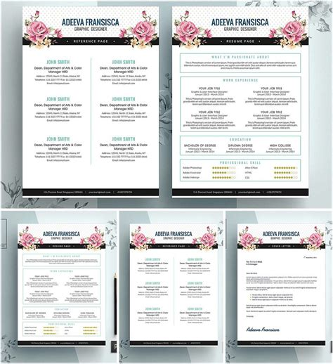 vintage feminine resume template free download