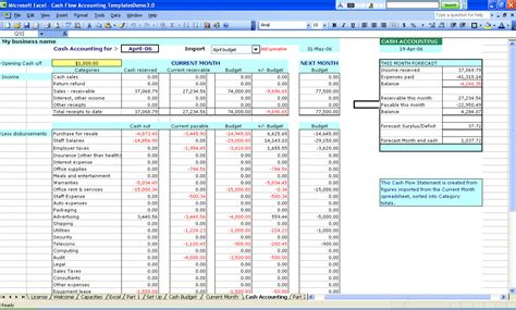 accounting budget template business accounting spreadsheet free