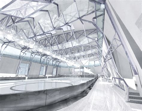 design form ice resurfacer interior of the ice rink 2006 sketch design of tectonics