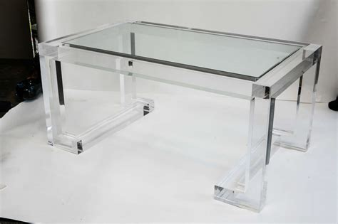 Acrylic Coffee Tables Acrylic And Glass Coffee Table At 1stdibs