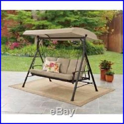 outdoor glider bench with canopy furniture backyard porch hammock patio canopy swing glider