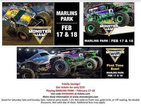 truck jam discount code jam at marlins park discount code ticket giveaway