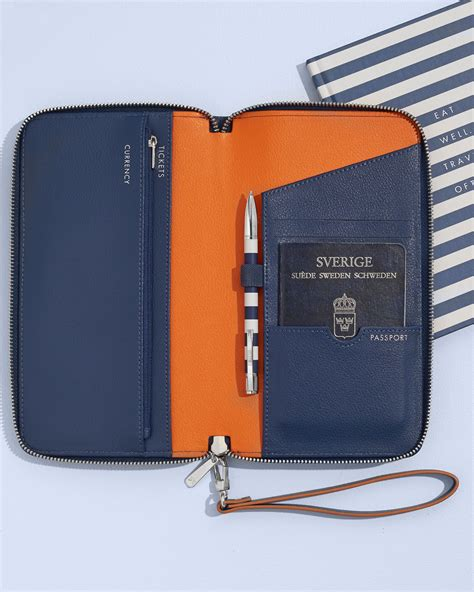 travel in style with this gorgeous leather travel wallet