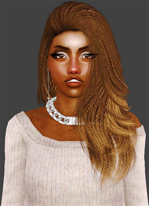 hfs braided hair sims 3 reblog