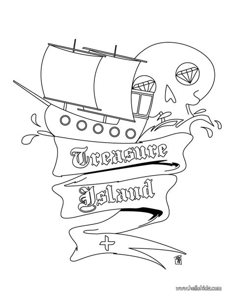 Treasure Island Coloring Pages Hellokids Com Treasure Island Coloring Pages