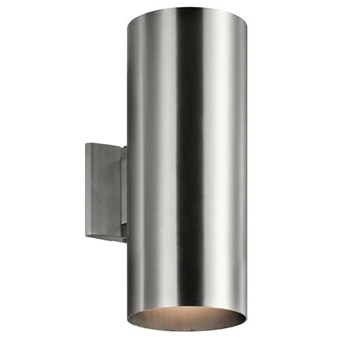 Contemporary Outdoor Lighting Sconces Kichler 9246ba Contemporary Brushed Aluminum Outdoor