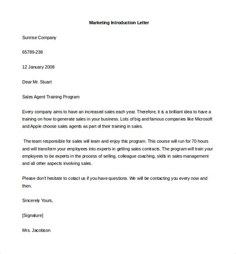 Business Format Letter Of Introduction 7 Letter Of Introduction Template Free Sle Exle Format Free Premium Templates