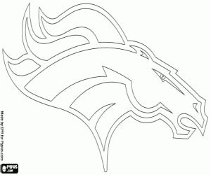 How To Draw Nfl Broncos Football Logo Coloring Pages