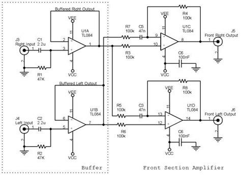 5 1 channel home theater circuit diagram 5 1channel home theater ckt diagrams hq circuit diagram