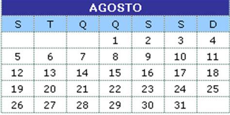 Calendario Agosto 2013 Calend 225 Agosto 2013